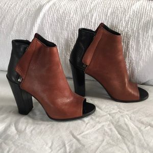 Dolce Vita Two-Toned Peeptoe Booties